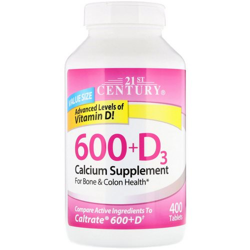 21st Century, 600+D3, Calcium Supplement, 400 Caplets Review