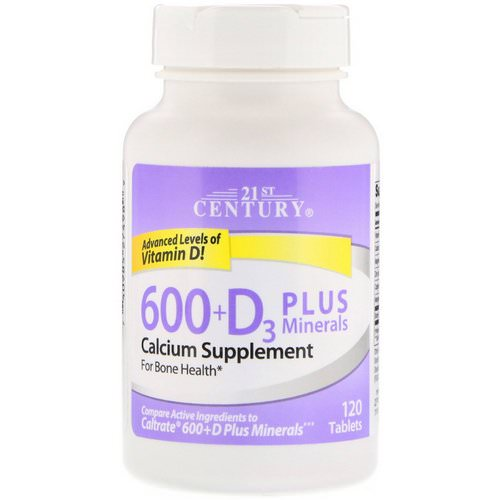 21st Century, 600+D3 Plus Minerals, 120 Tablets Review