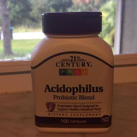 21st Century, Acidophilus Probiotic Blend, 100 Capsules Review