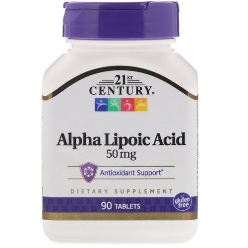 21st Century, Alpha Lipoic Acid, 50 mg, 90 Tablets Review