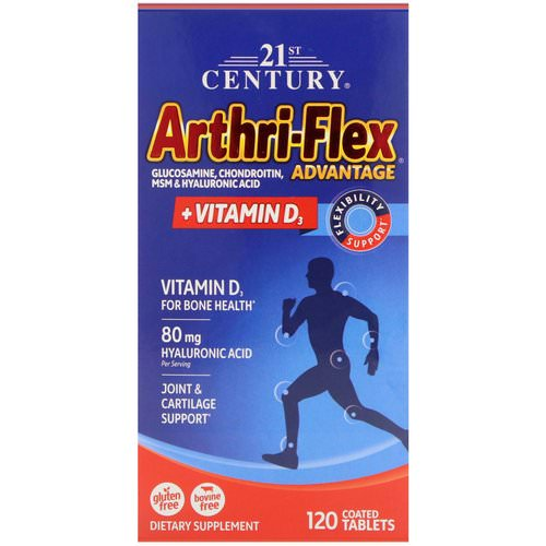 21st Century, Arthri-Flex Advantage, + Vitamin D3, 120 Coated Tablets Review