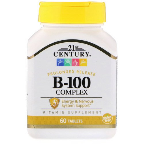 21st Century, B-100 Complex, Prolonged Release, 60 Tablets Review