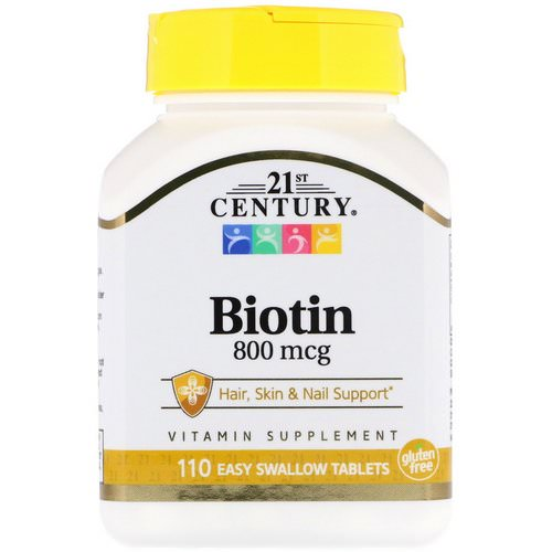 21st Century, Biotin, 800 mcg, 110 Easy Swallow Tablets Review