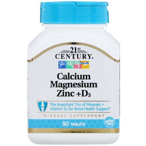 21st Century, Calcium Magnesium Zinc + D3, 90 Tablets Review