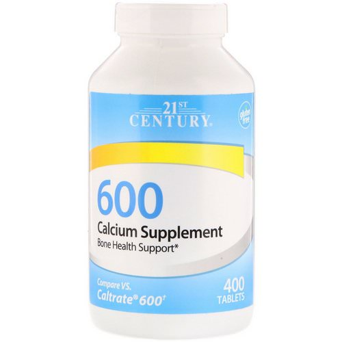 21st Century, Calcium Supplement 600, 400 Tablets Review