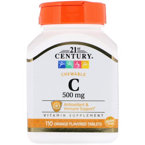 21st Century, Chewable C, 500 mg, 110 Orange Flavored Tablets Review