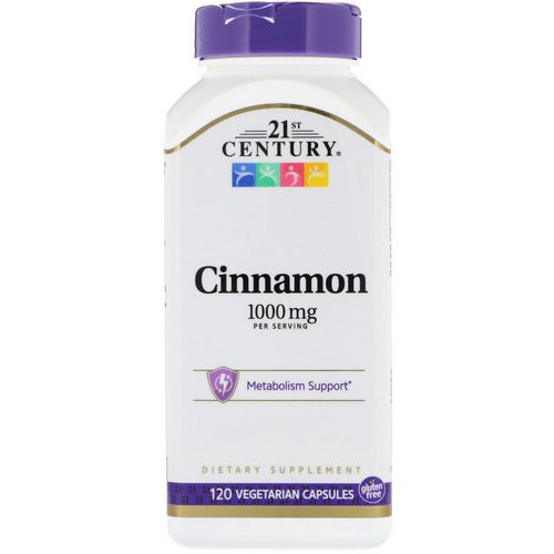 21st Century, Cinnamon, 1000 mg, 120 Vegetarian Capsules Review