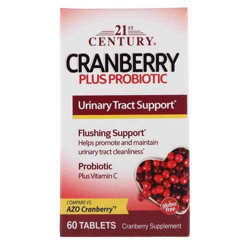 21st Century, Cranberry Plus Probiotic, 60 Tablets Review