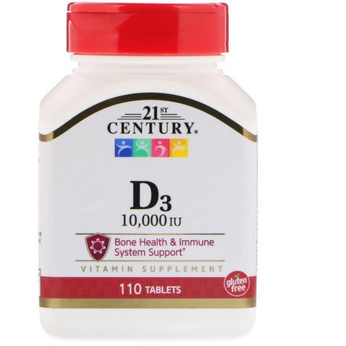 21st Century, D3, 10,000 IU, 110 Tablets Review