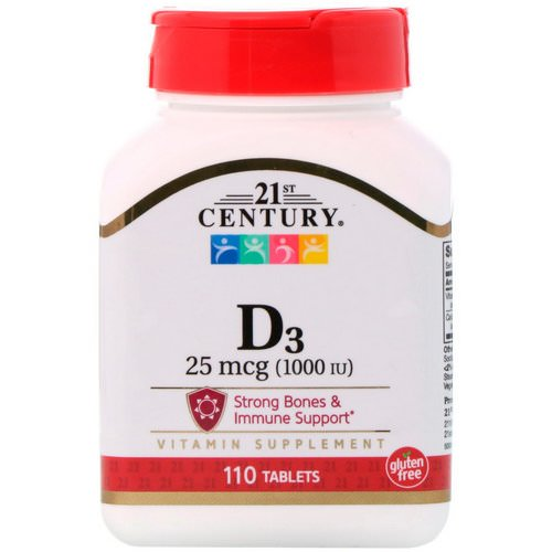21st Century, D3, 25 mcg (1000 IU), 110 Tablets Review