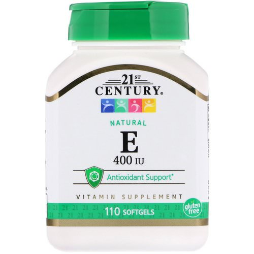 21st Century, E, Natural, 400 IU, 110 Softgels Review
