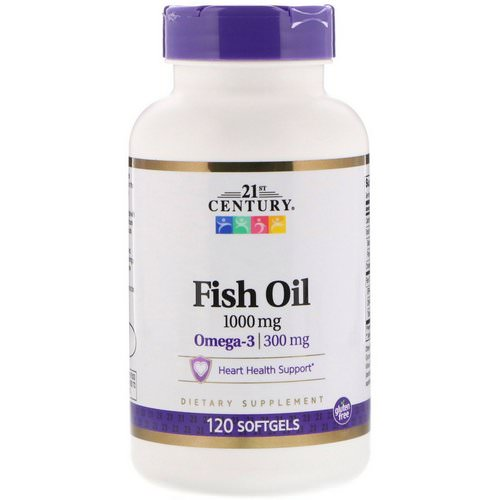 21st Century, Fish Oil, 1,000 mg, 120 Softgels Review