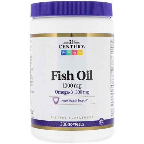 21st Century, Fish Oil, 1,000 mg, 300 Softgels Review