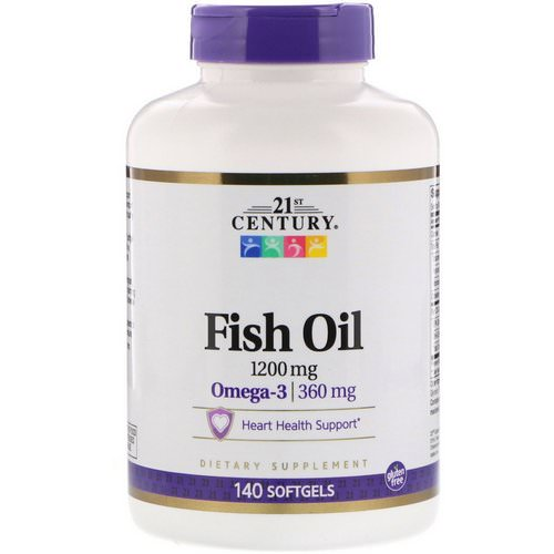 21st Century, Fish Oil, 1,200 mg, 140 Softgels Review
