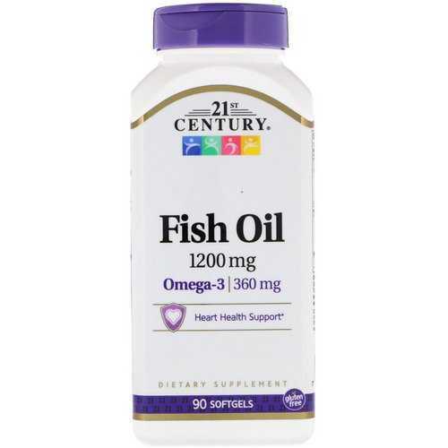21st Century, Fish Oil, 1,200 mg, 90 Softgels Review