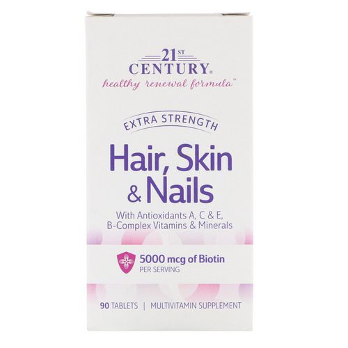 21st Century, Hair, Skin & Nails, Extra Strength, 90 Tablets Review