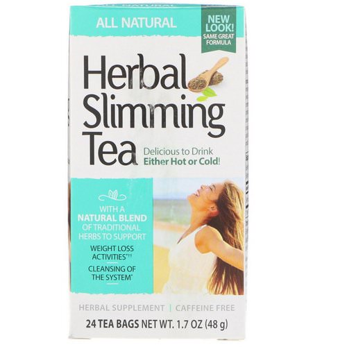 21st Century, Herbal Slimming Tea, All Natural, Caffeine Free, 24 Tea Bags, 1.7 oz (48 g) Review