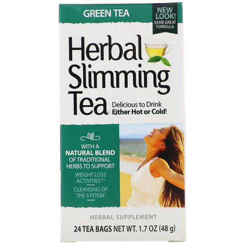 21st Century, Herbal Slimming Tea, Green Tea, Caffeine Free, 24 Tea Bags, 1.6 oz (45 g) Review