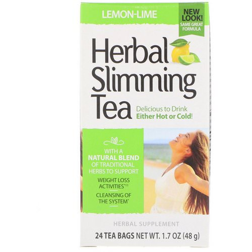 21st Century, Herbal Slimming Tea, Lemon-Lime, Caffeine Free, 24 Tea Bags, 1.7 oz (48 g) Review