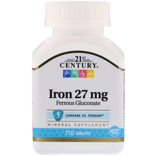 21st Century, Iron, 27 mg, 110 Tablets Review
