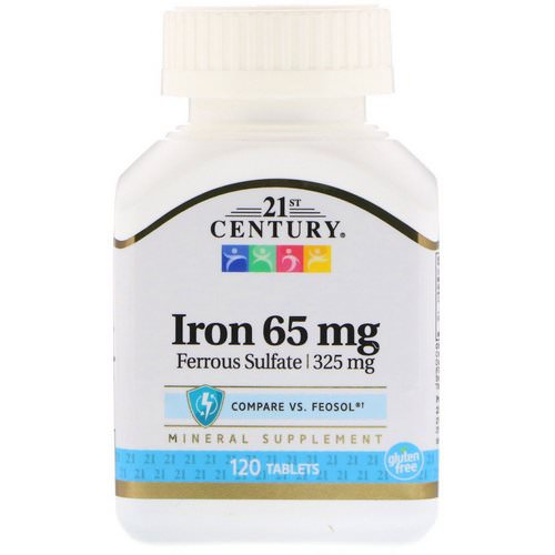 21st Century, Iron, 65 mg, 120 Tablets Review