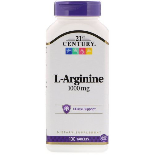 21st Century, L-Arginine, 1,000 mg, 100 Tablets Review