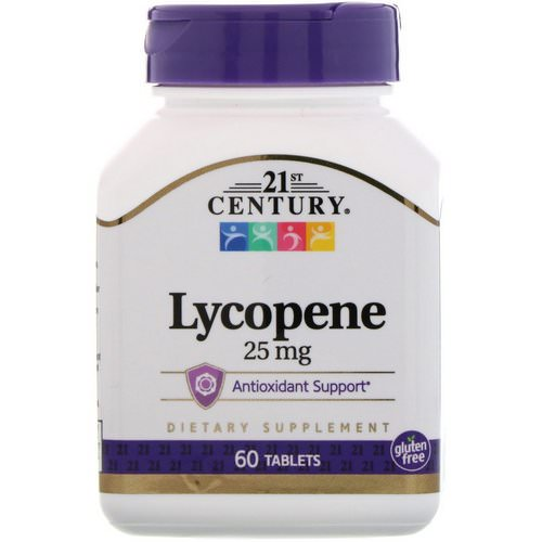21st Century, Lycopene, 25 mg, 60 Tablets Review
