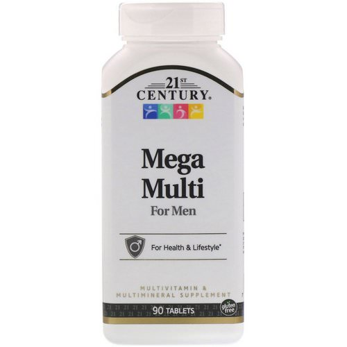 21st Century, Mega Multi, For Men, Multivitamin & Multimineral, 90 Tablets Review