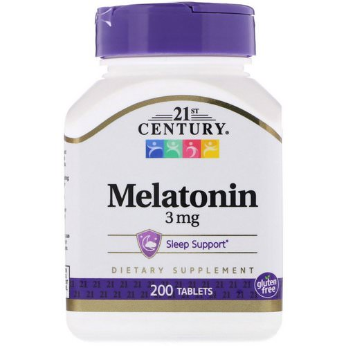 21st Century, Melatonin, 3 mg, 200 Tablets Review