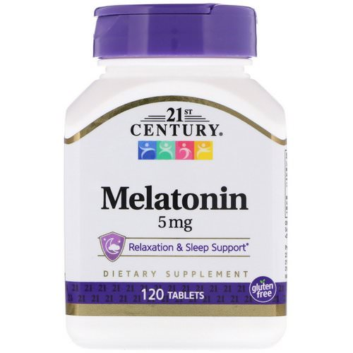 21st Century, Melatonin, 5 mg, 120 Tablets Review