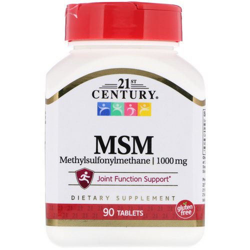 21st Century, MSM, Methylsulfonylmethane, 1,000 mg, 90 Tablets Review