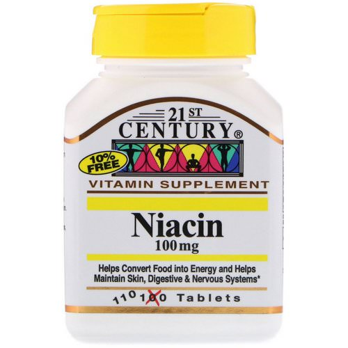 21st Century, Niacin, 100 mg, 110 Tablets Review