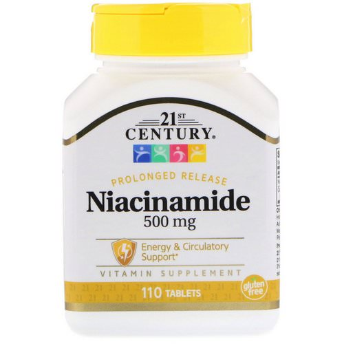 21st Century, Niacinamide, 500 mg, 110 Tablets Review