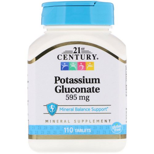21st Century, Potassium Gluconate, 595 mg, 110 Tablets Review