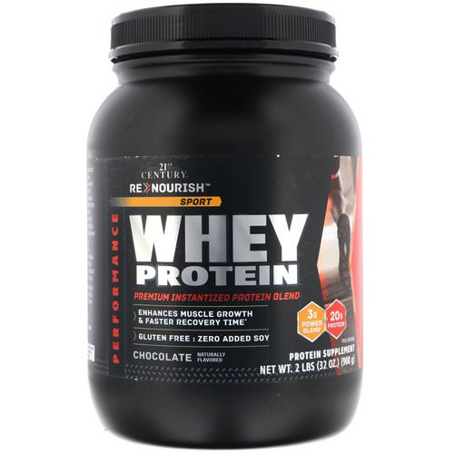 21st Century, ReNourish, Sport, Whey Protein, Chocolate, 2 lb (908 g) Review