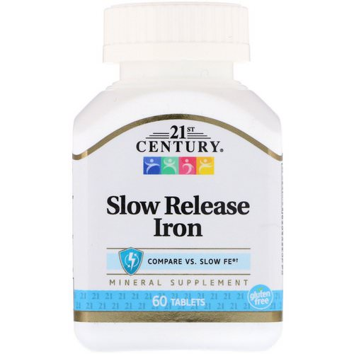 21st Century, Slow Release Iron, 60 Tablets Review