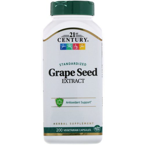 21st Century, Standardized Grape Seed Extract, 200 Vegetarian Capsules Review