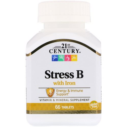 21st Century, Stress B, with Iron, 66 Tablets Review