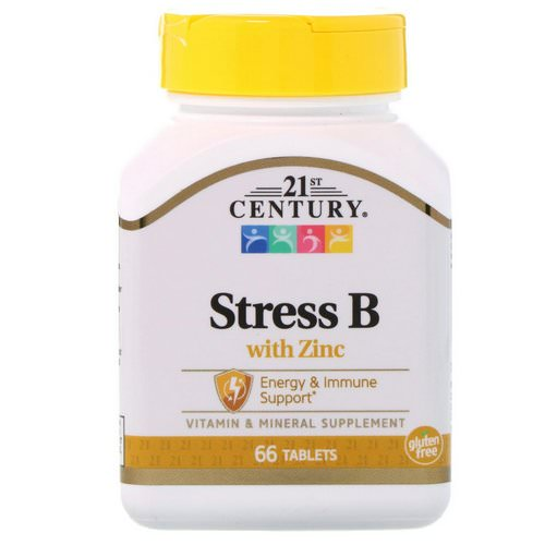 21st Century, Stress B, with Zinc, 66 Tablets Review