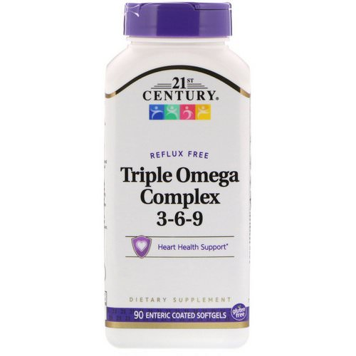 21st Century, Triple Omega Complex 3-6-9, 90 Enteric Coated Softgels Review