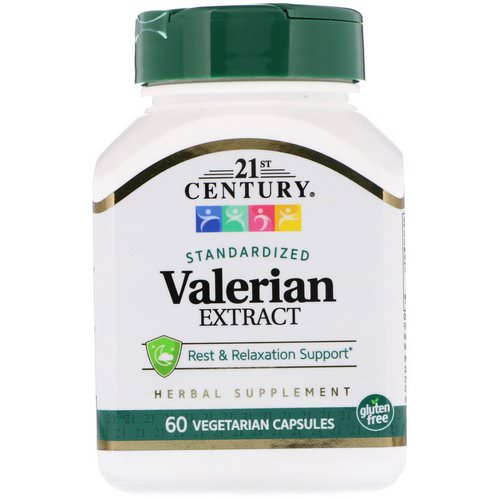 21st Century, Valerian Extract, Standardized, 60 Vegetarian Capsules Review