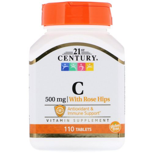 21st Century, Vitamin C, with Rose Hips, 500 mg, 110 Tablets Review