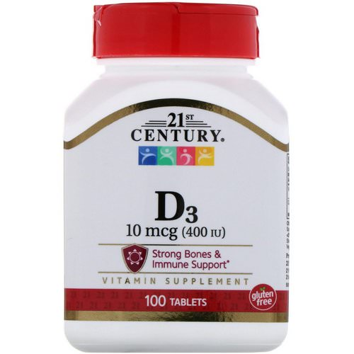 21st Century, Vitamin D3, 10 mcg (400 IU), 100 Tablets Review