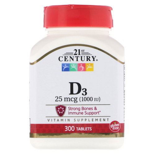 21st Century, Vitamin D3, 25 mcg (1000 IU), 300 Tablets Review