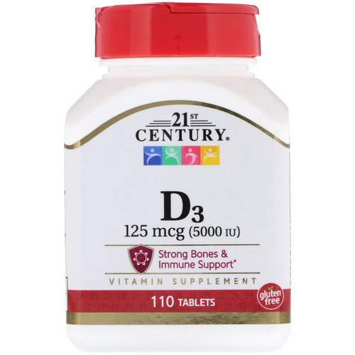 21st Century, Vitamin D3, 125 mcg (5000 IU), 110 Tablets Review