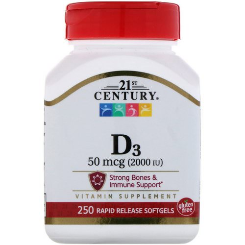 21st Century, Vitamin D3, 2000 IU, 250 Liquid Softgels Review
