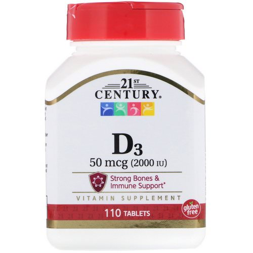 21st Century, Vitamin D3, 50 mcg (2000 IU), 110 Tablets Review