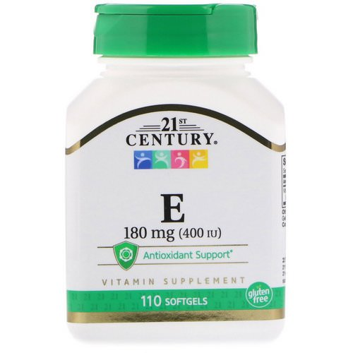 21st Century, Vitamin E, 180 mg (400 IU), 110 Softgels Review