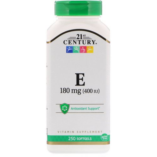 21st Century, Vitamin E, 180 mg (400 IU), 250 Softgels Review