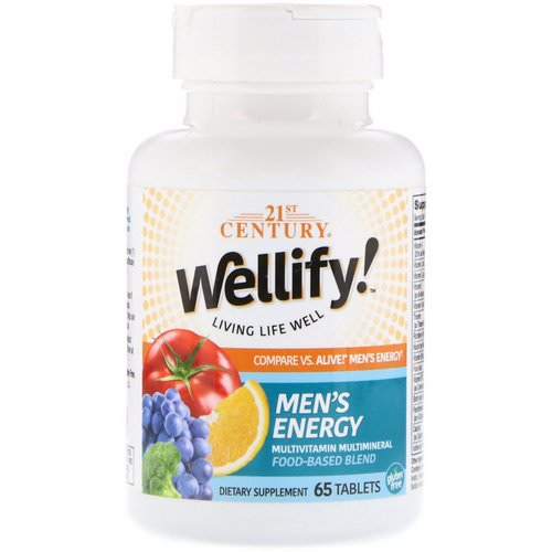 21st Century, Wellify! Men's Energy, Multivitamin Multimineral, 65 Tablets Review